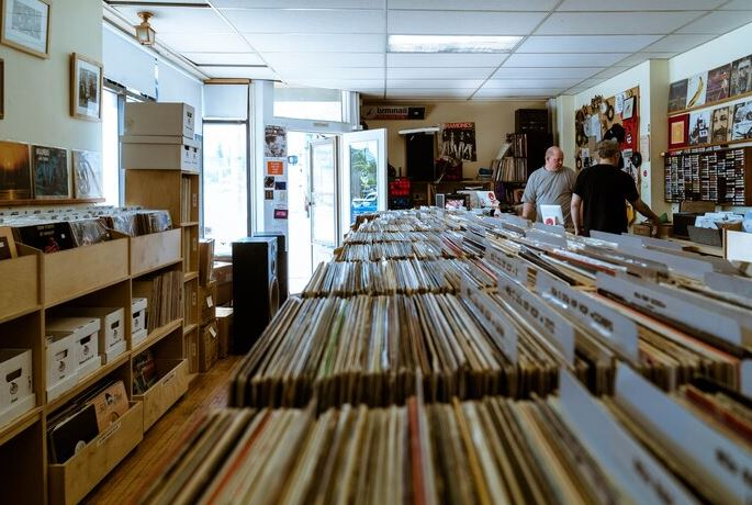 Picture of Hello Records shop in Detroit (USA) by Maxwell Schiano on RedBull Music Academy