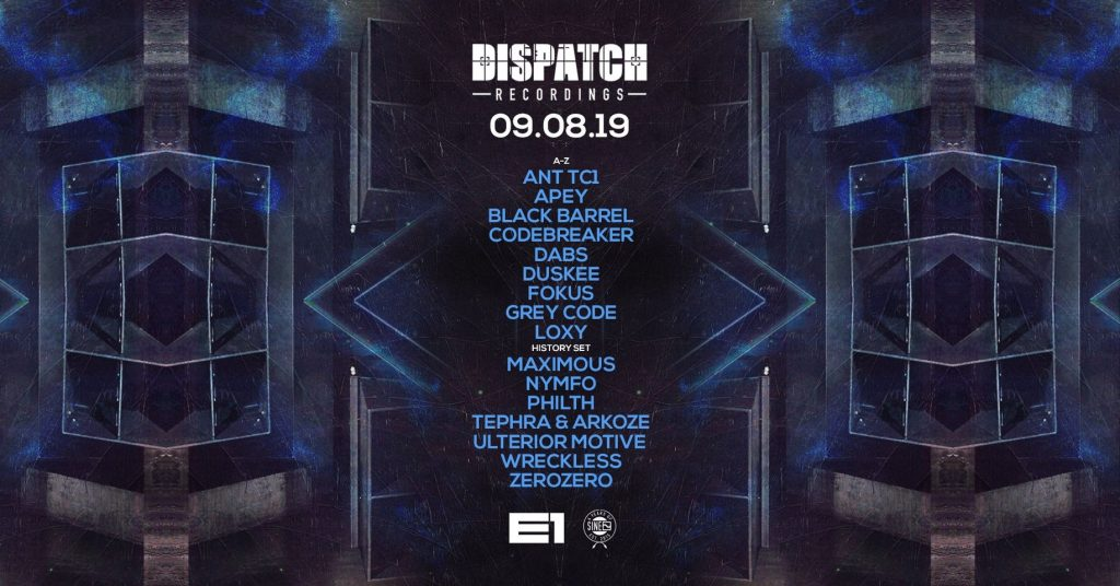 Visuals fo a Dispatch Recordings night event
